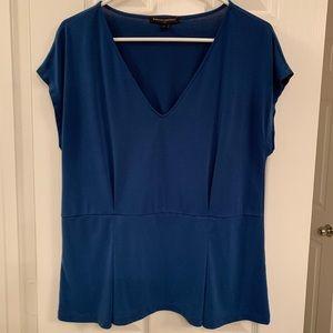 Banana Republic cobalt blue v-neck blouse